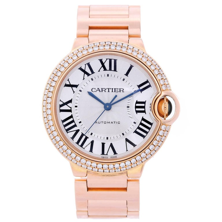 ca13a1db9ec0 Cartier Rose Gold Ballon Bleu Midsize Automatic Wristwatch Ref WJBB0005 For  Sale