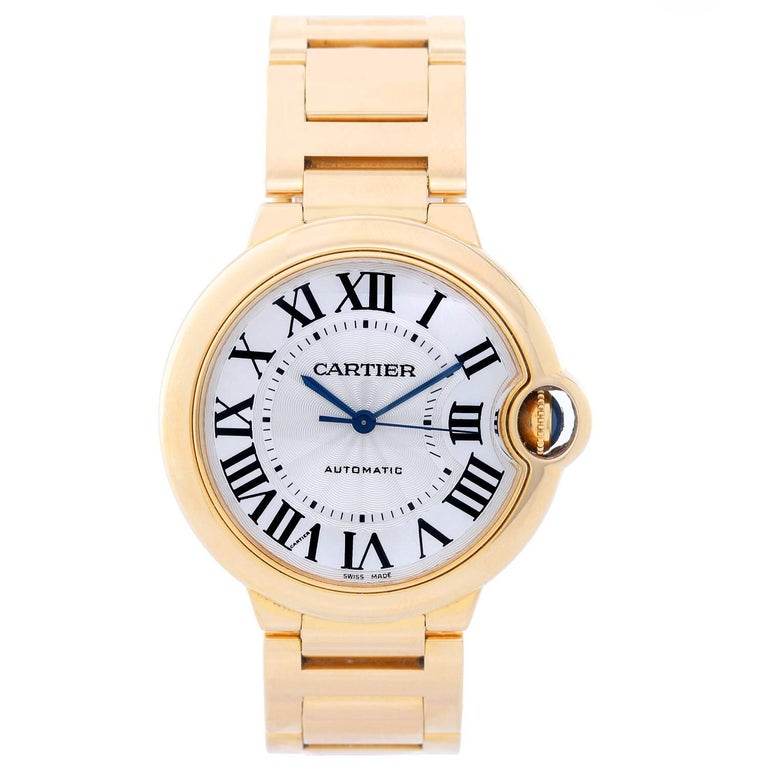 bb49e38d3d77 Cartier Yellow Gold Ballon Bleu Midsize Automatic Wristwatch Ref W69003Z2  For Sale