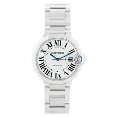 Cartier Ballon Bleu Midsize Stainless Steel Watch W6920046 3284
