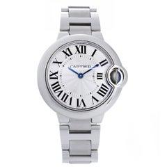 Cartier Stainless Steel Ballon Bleu Midsize Quartz Wristwatch Ref W6920084