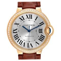 Cartier Ballon Bleu Midsize Yellow Gold Diamond Watch WE900451 Unworn