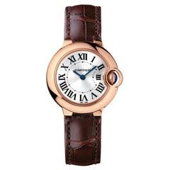 Cartier Ballon Bleu Quartz Movement Pink Gold Watch WGBB0007