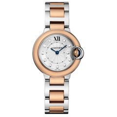 Cartier Ballon Bleu Quartz Pink Gold Steel and Diamond Watch W3BB0005