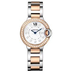 Cartier Ballon Bleu Quartz Pink Gold Steel and Diamond Watch W3BB0025