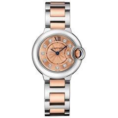 Cartier Ballon Bleu Quartz Pink Gold Steel and Diamond Watch WE902052