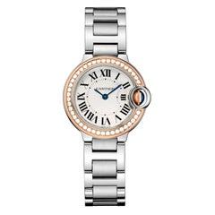 Cartier Ballon Bleu Quartz Rose Gold Steel and Diamond Watch WE902079