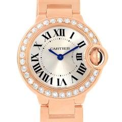 Cartier Ballon Bleu Rotgold Diamant Damenuhr WE9002Z3 Verpackung und Papiere
