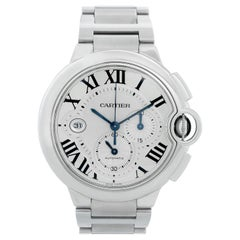 Cartier Ballon Bleu Stainless Steel Silver Chronograph Automatic W6920076