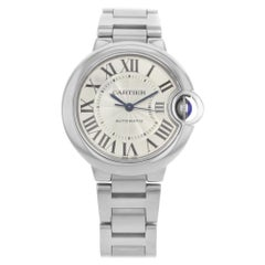 Cartier Ballon Bleu Stainless Steel Silver Dial Automatic Ladies Watch W6920071