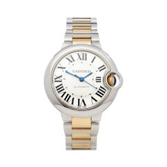 Cartier Ballon Bleu Stainless Steel and Yellow Gold 3489 or W2BB0002