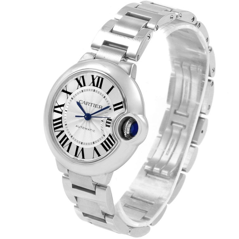 Cartier Ballon Bleu Steel Automatic Women's Watch W6920071 Box Papers 2