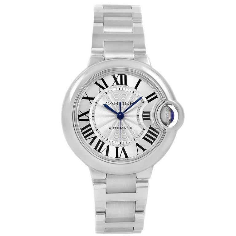 Cartier Ballon Bleu Steel Automatic Women's Watch W6920071 Box Papers 3