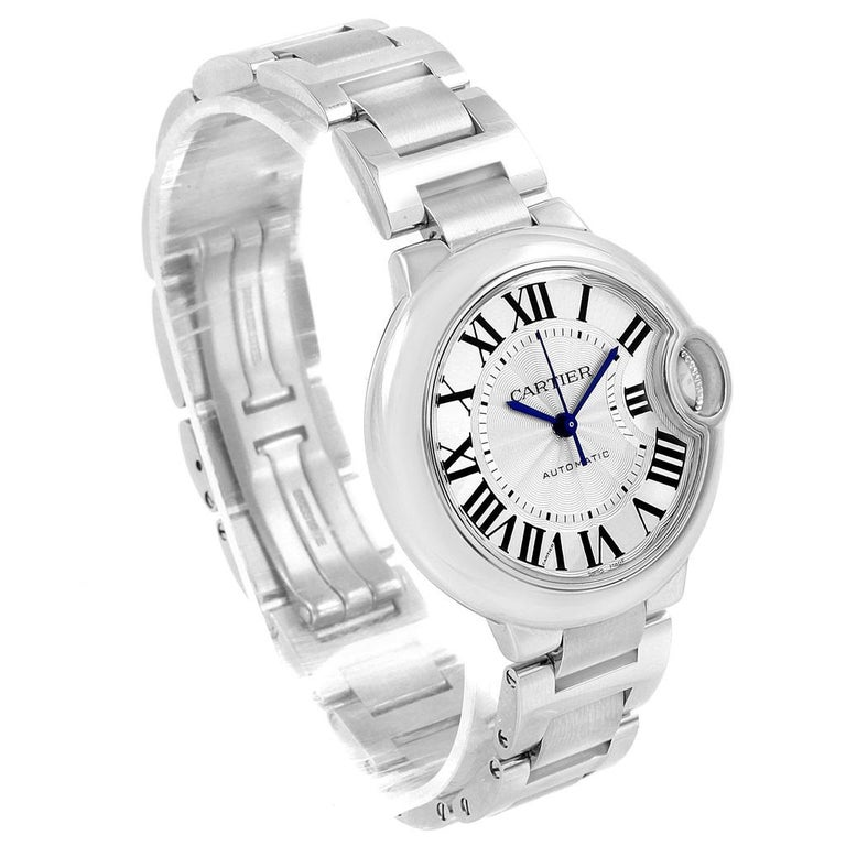 Cartier Ballon Bleu Steel Automatic Women's Watch W6920071 Box Papers 6