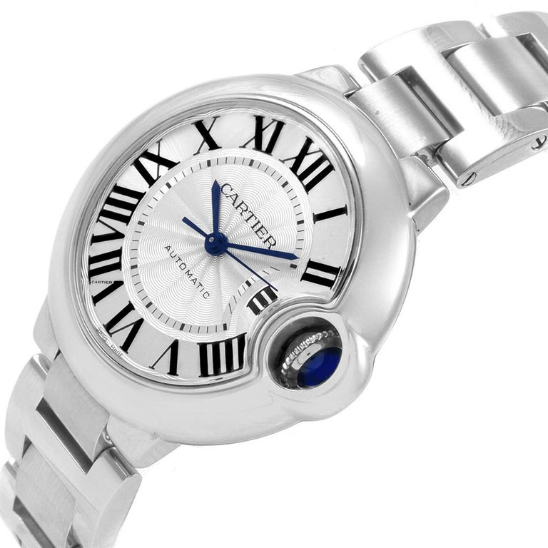 Cartier Ballon Bleu Steel Automatic Women's Watch W6920071 Box Papers 9