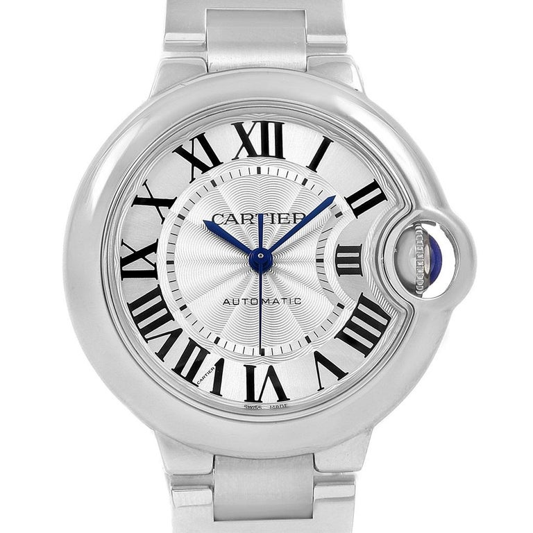 Cartier Ballon Bleu Steel Automatic Women's Watch W6920071 Box Papers 1