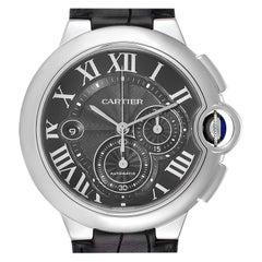 Cartier Ballon Bleu Steel Black Dial Chronograph Men's Watch W6920052