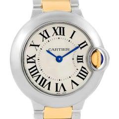 Cartier Ballon Bleu Steel Yellow Gold Small Ladies Watch W69007Z3