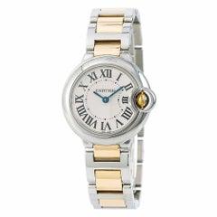 Cartier Ballon Bleu W2BB0010 Women's Quartz Watch Two-Tone 18 Karat Yellow Gold