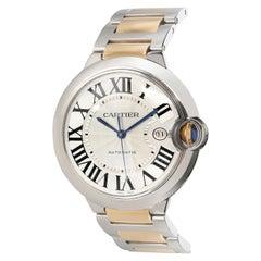 Cartier Ballon Bleu W69009Z3 Men's Watch in 18 Karat Stainless Steel/Yellow Gold