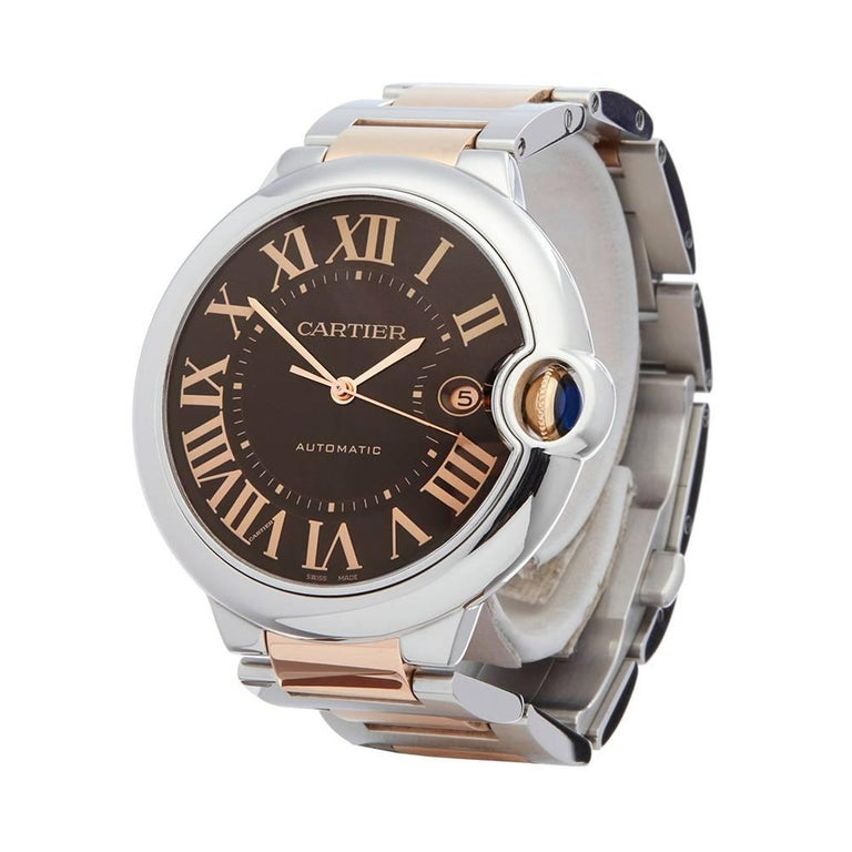 Ref: W4901 Manufacturer: Cartier Model: Ballon Bleu Model Ref: W6920032 Age:  Gender: Mens Complete With: Box Only Dial: Chocolate Roman Glass: Sapphire Crystal Movement: Automatic Water Resistance: To Manufacturers Specifications Case: Stainless