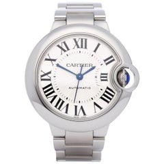 Cartier Ballon Bleu W6920071 or 3489 Ladies Stainless Steel Automatic Watch