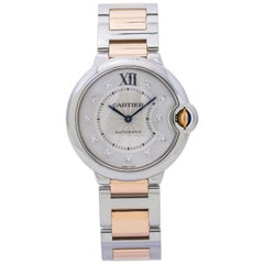 Cartier Ballon Bleu WE902031 18 Karat Two-Tone Rose Diamond Dial Women's Watch
