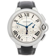 Cartier Ballon Bleu XL Chronograph Stainless Steel 3109 or W6920003