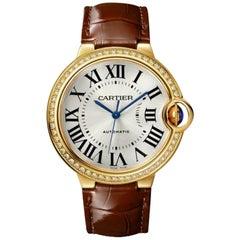 Cartier Ballon Bleu Yellow Gold and Diamond Ladies Watch WJBB0041