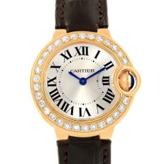 Cartier Ballon Bleu Yellow Gold Diamond Ladies Watch WE900151 Unworn
