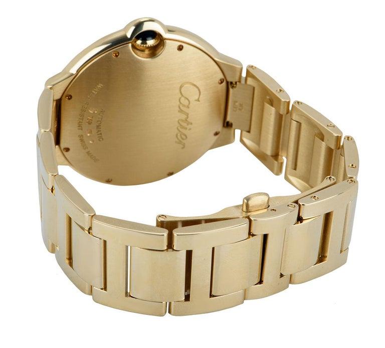Cartier Ballon Bleu Yellow Gold Diamond Set WE9007Z3 Watch For Sale 1