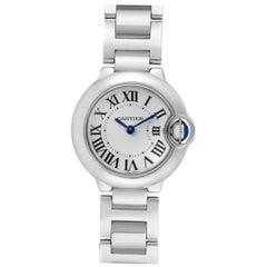 Cartier Ballon Blue 29 Silver Dial Quartz Ladies Watch W69010Z4