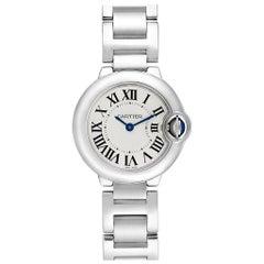 Cartier Ballon Blue Silver Dial Ladies Watch W69010Z4 Box