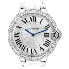 Cartier Ballon Blue White Gold Diamond Ladies Watch WE902056