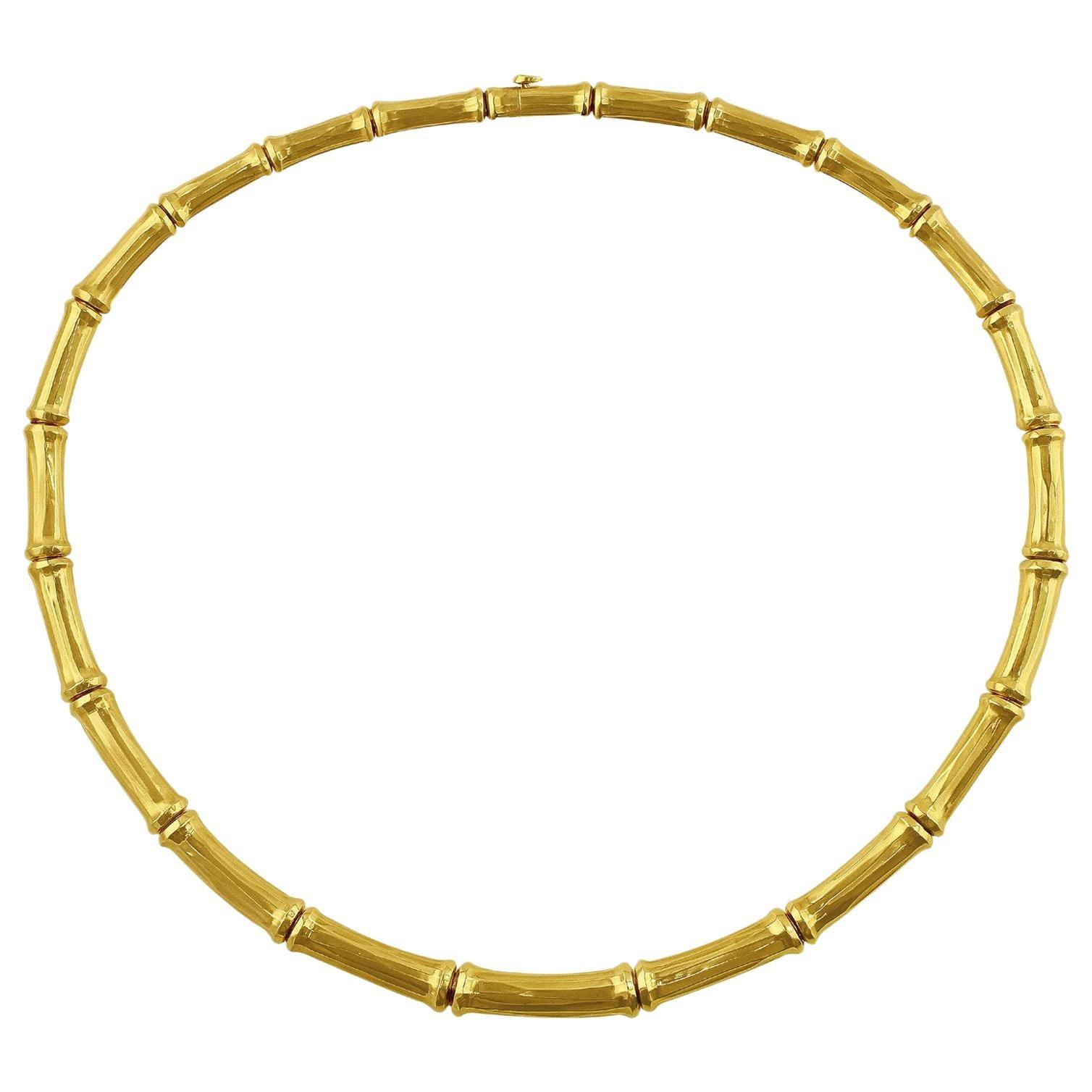 Cartier Bamboo 18 Karat Yellow Gold Necklace