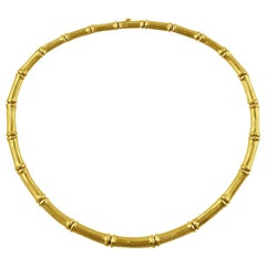 Cartier Bamboo 18 Karat Yellow Gold Necklace