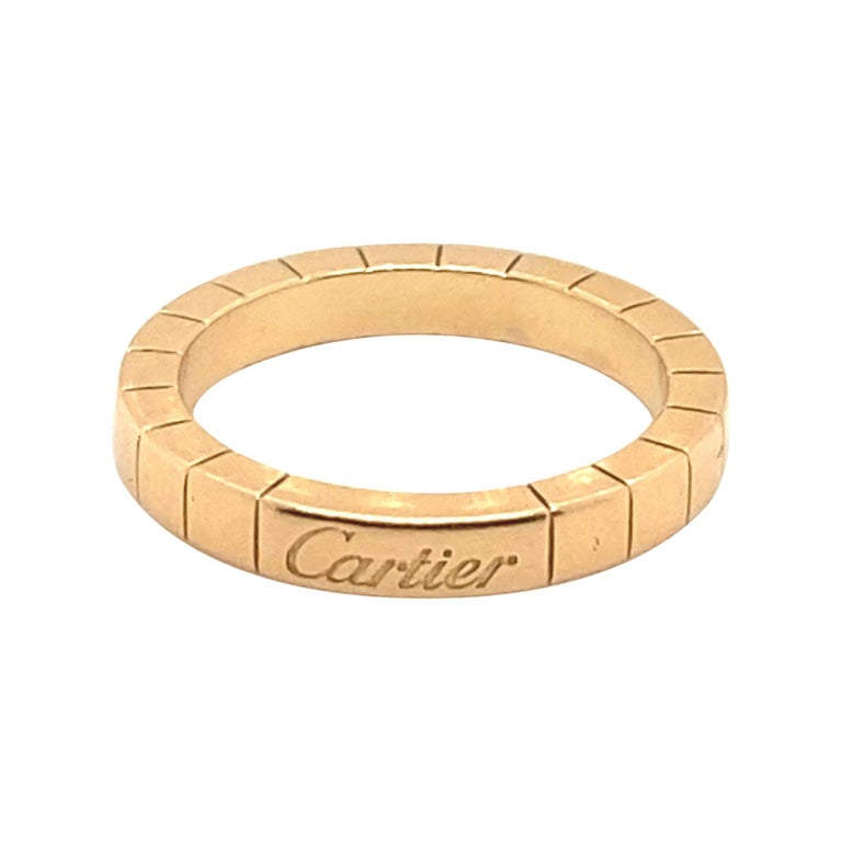 Cartier Band 18k Size 6.25 For Sale