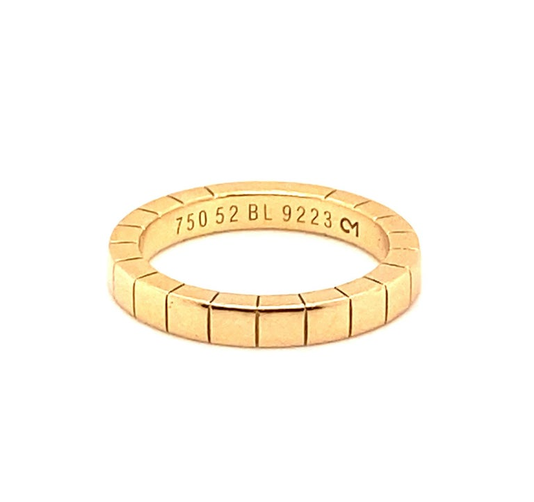 Cartier Band 18k Size 6.25 For Sale 1