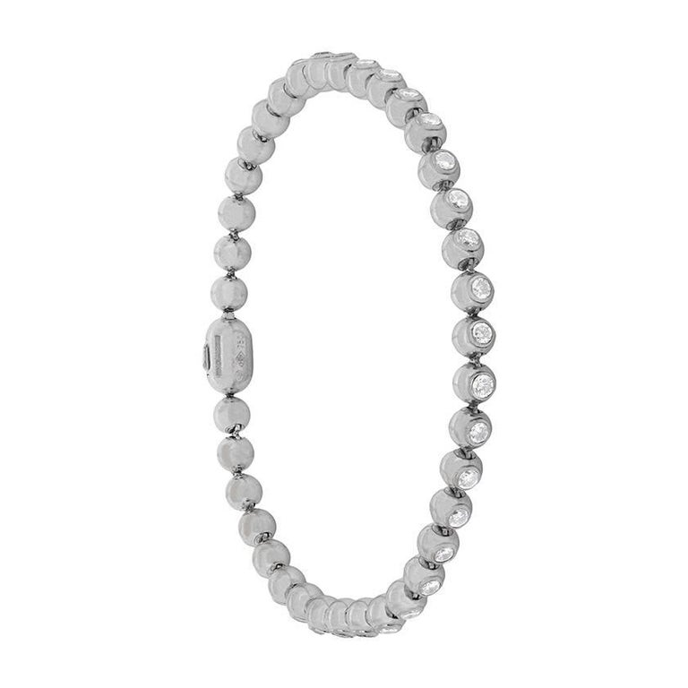 Cartier Bead Style 2.04 Carat Diamond Bracelet, circa 2000s