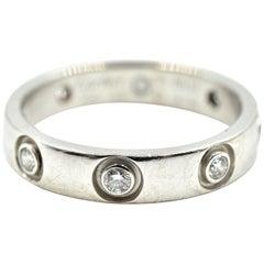 Cartier Bezel Set Diamond Love Ring 18 Karat White Gold