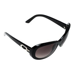 Cartier Black/ Black Gradient Cat Eye Sunglasses