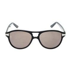 Cartier Black Cartier De Santos Aviator Sunglasses