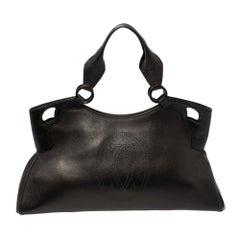 Cartier Black Leather Marcello De Cartier Bag