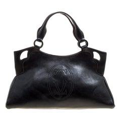 Cartier Black Leather Marcello de Cartier Satchel