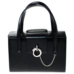 Cartier Black Leather Panthere Box Satchel