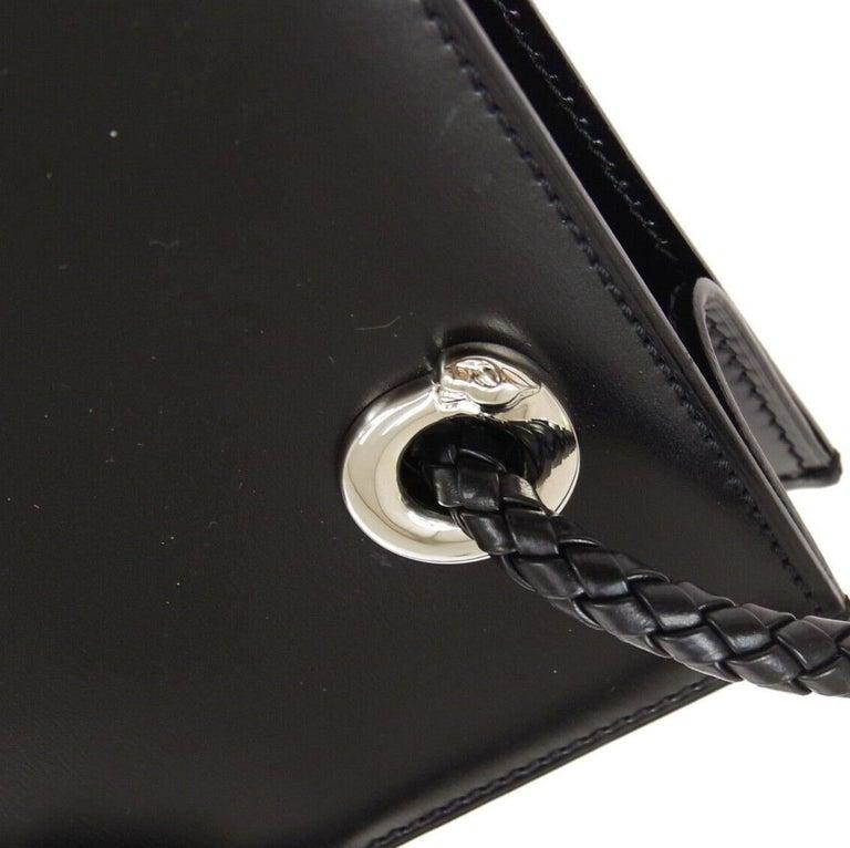 Leather Silver tone hardware Made in France Adjustable shoulder strap drop 11.5-16