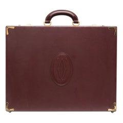 Cartier Bordeaux Leather Briefcase
