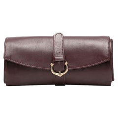 Cartier Bordeaux Leather Jewel Clutch