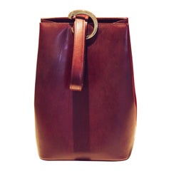 Cartier Bordeaux Leather Panthere Bucket Bag