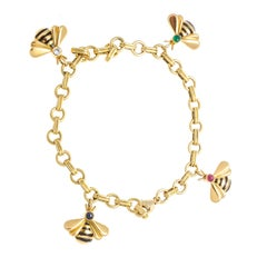 Cartier Bumble Bee Charm Bracelet
