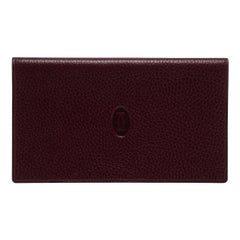 Cartier Burgundy Leather Must de Cartier Passport Holder